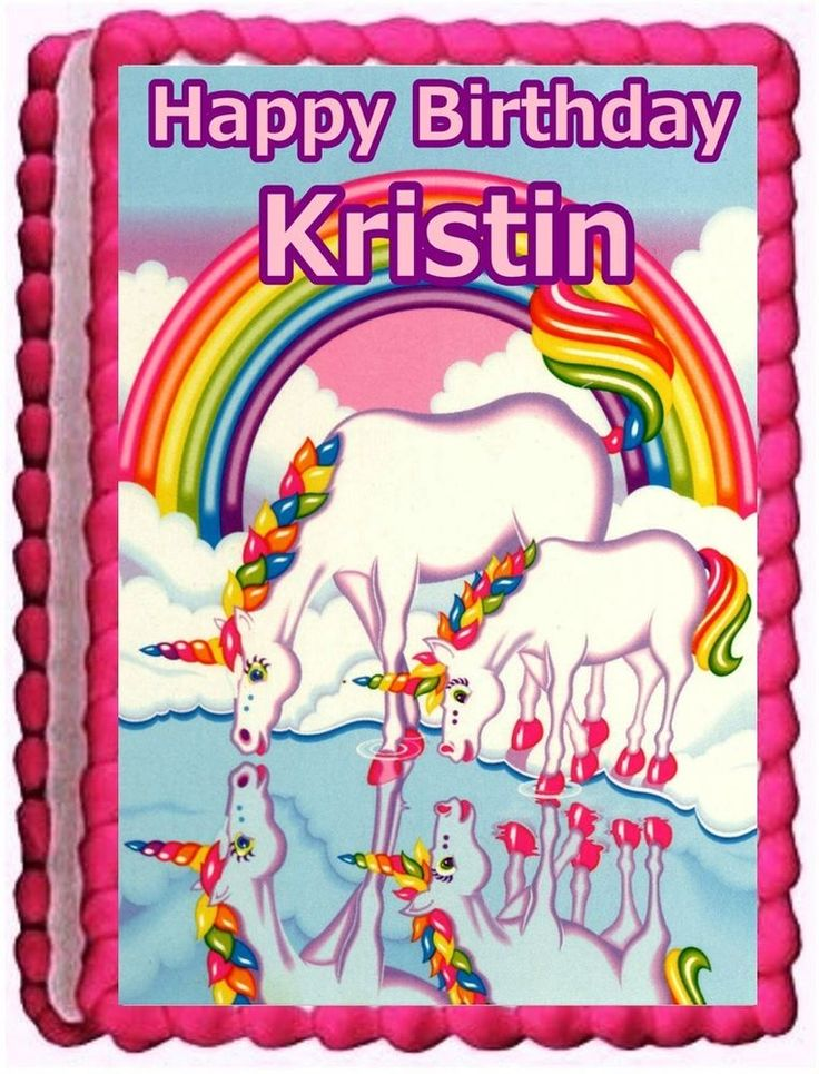 Details about Unicorn face hearts Birthday Cake topper