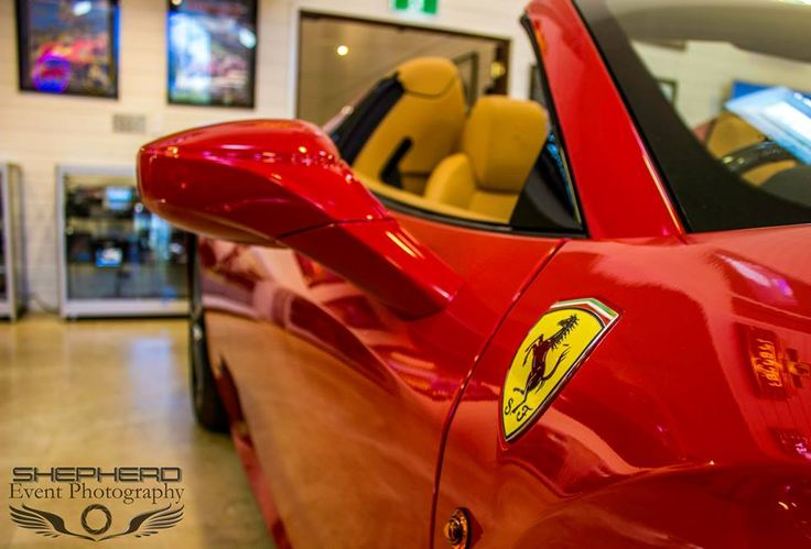 Love this shot of the fiery Ferrari 458 Spider. Photo by Shepherd Event Photography.