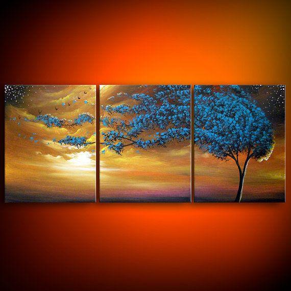 art original painting wind blow tree painting art by mattsart