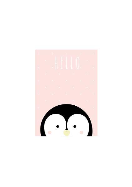 """Bilder - Kunstdruck / Baby / Kids Print """"Pinguin"""" - ein Designerstück von TypicalMe bei DaWanda"""