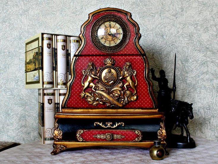 Часы каминные королевские. - Ярмарка Мастеров - ручная работа, handmade