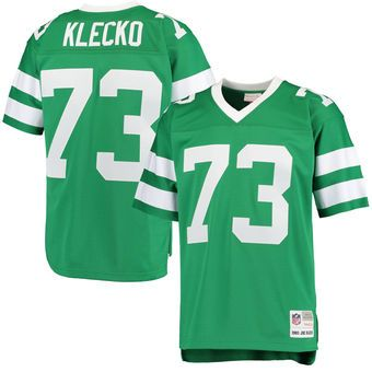 Mitchell Ness #73 Joe Klecko New York Jets Green Retired Player Replica Jersey