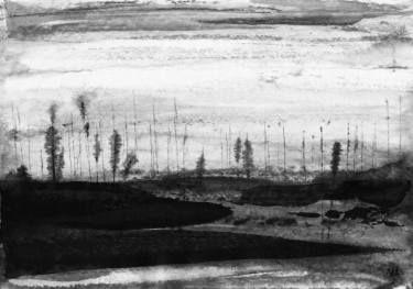 River by #eugeneivanov, 29 X 41 cm, $235.  #@eugene_1_ivanov #modern #original #ink #painting #hipster #sale #art_for_sale #original_art_for_sale #modern_art_for_sale #ink_drawing_for_sale #art_for_sale_artworks #art_for_sale_ink #art_for_sale_artist #art_for_sale_eugene_ivanov #abstract #best_abstract_art #best_abstract_ink