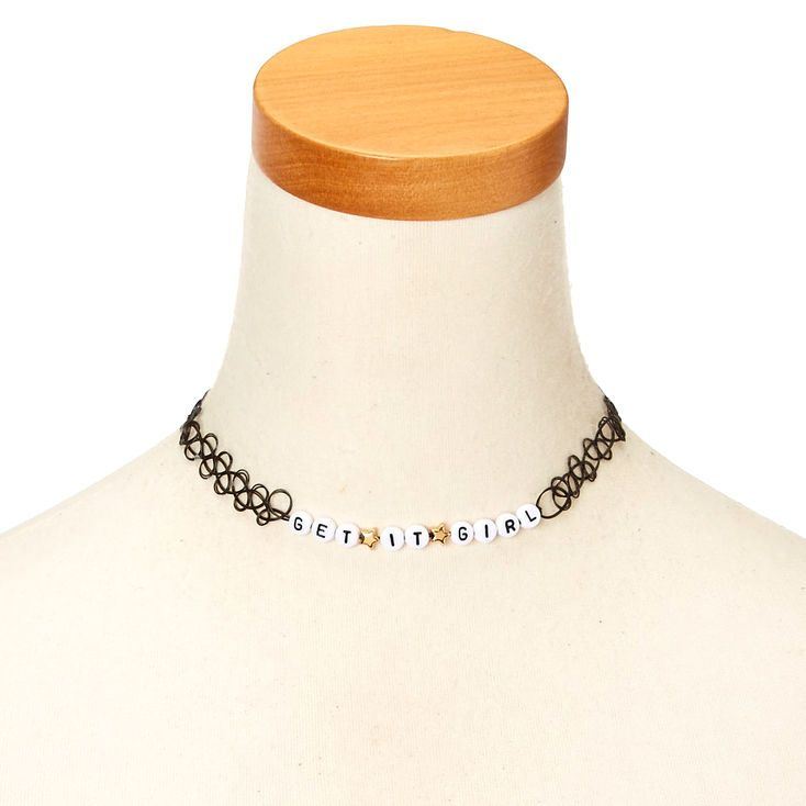 GET IT GIRL Black Tattoo Choker Necklace