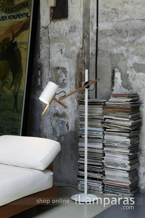 scantling p40 lampara de pie blanco (A626-003) - Marset / iLamparas.com