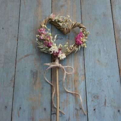 Rustic Country Heart Wand