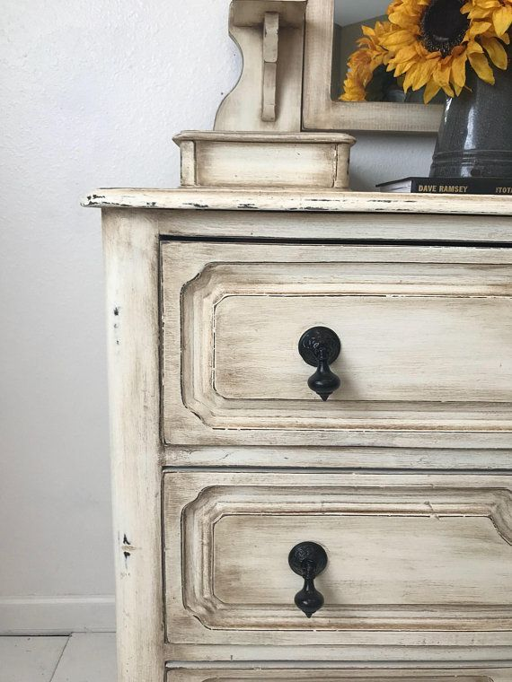Sold--Dresser with mirror, Vintage Eastlake Style Dresser with