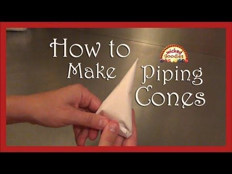 How to Make Parchment Paper Piping Cones for Cake Writing and Decorating