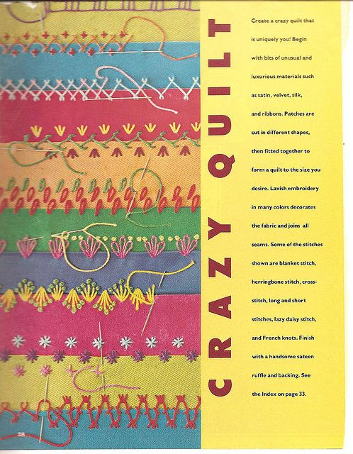 stitches for crazy quilting, loaded with patterns and great ideas!