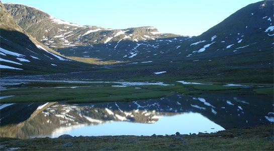 Kungsleden in Sweden. One of the most beautiful hiking routes.