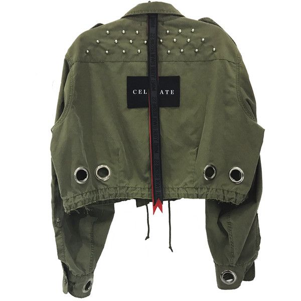 EYELET ARMY JACKET ($355) ❤ liked on Polyvore featuring outerwear, jackets, army jacket, eyelet jacket, field jacket and military jacket