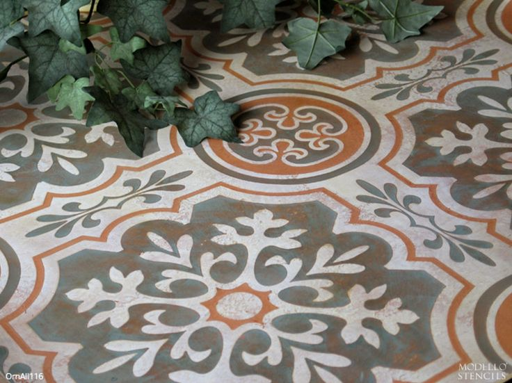 Make Your Concrete Beautiful And Colorful With Classic Old World European  Designs! Ornamental Allover Stencil