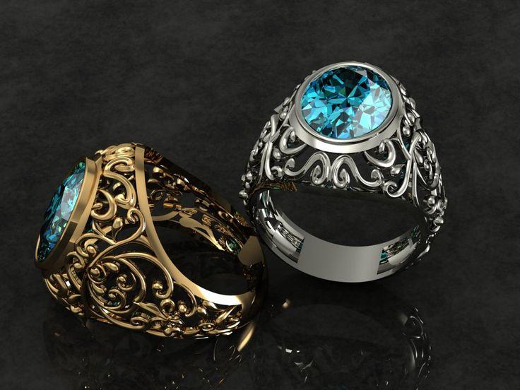 blue topaz gold ring  design by : niloofar mirshahidi niloo.mir@gmail.com