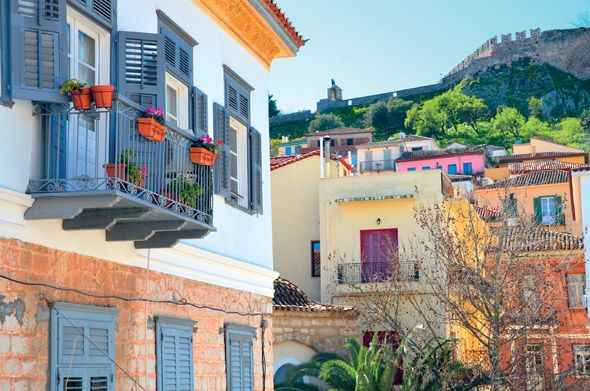 DISCOVER PELOPONNESE | #Nafplion and Palamidi castle view  http://discover-peloponnese.com/