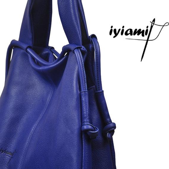 Leather slouchy Handbag named Femme Fatale