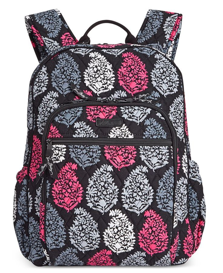 "Get set for the best school year ever with Vera Bradley's punchy-hued backpack crafted in lightweight signature quilted cotton. | Cotton | Wipe clean | Imported | 12""W x 16""H x 7-1/2""D 