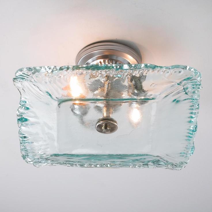 Crystal basket semi flush ceiling light glasses milk glass and glass ceiling - Recycled glass pendant lights ...