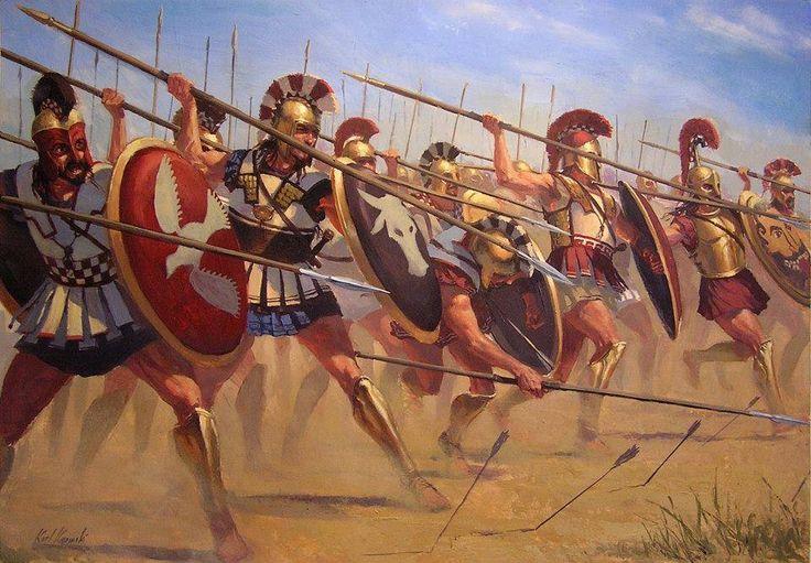 Hoplite charge