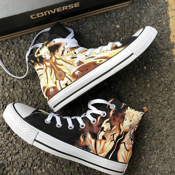 7593a26df5a Naruto Painted Converse