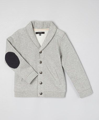 Loving this Gray Heather Elbow Patch Cardigan - Toddler & Boys on #zulily! #zulilyfinds