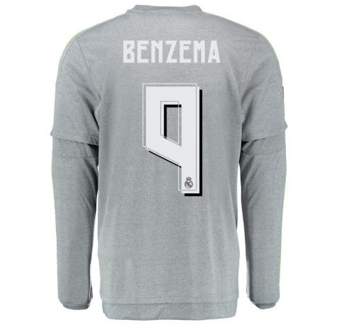 9fbc732885f ... wholesale this real madrid jersey 201516 away ls soccer shirt 9 benzema  7262d 211b7