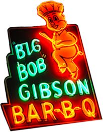 Big Bob Gibson BBQ  since 1925 Decatur Alabama  eat BBQ chicken with white sauce oh my   other locations, too