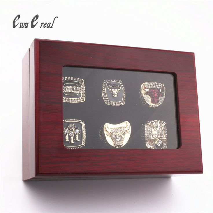 Man 1997 1997 1997 1997 1997 1997 1997 Chicago Bulls Champion Ring Replica / Super Bowl Ring Wooden Box / Size 8 to 14