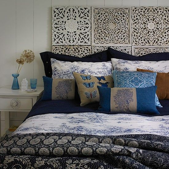 Blue Bohemian Bedroom | PHOTO GALLERY | Country Homes and Interiors | Housetohome.co.uk