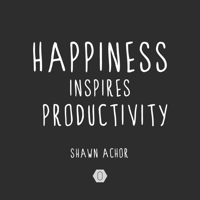 Inspiration Boost: the link between happiness and success | Happiness inspires productivity | #quote | OCHER