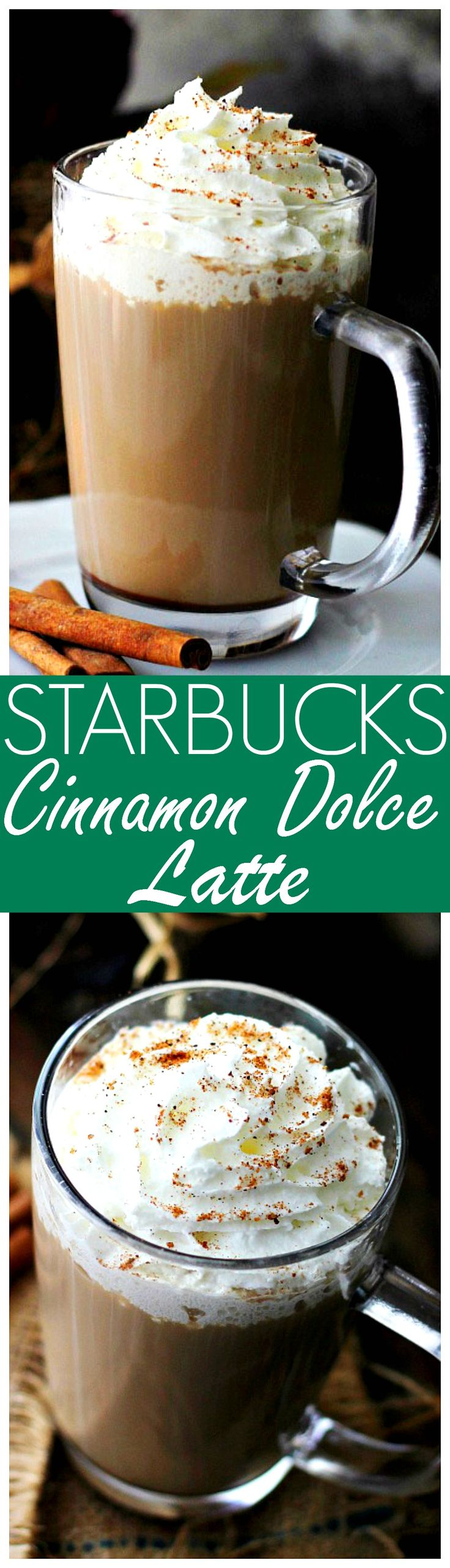 Starbucks Cinnamon Dolce Latte – An exact replica of Starbucks' deliciously sweet, warm and comforting Cinnamon Dolce Latte.