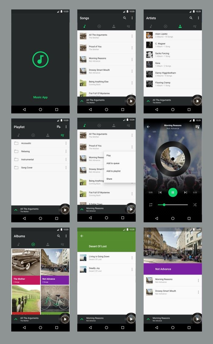 Music App Android Material Design Materiadesign Music Cleanui Androidui Android App Design App Design Layout Web App Design