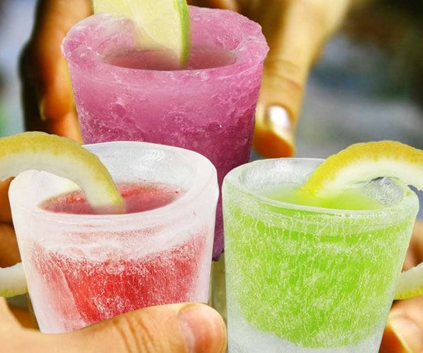 Take the sting off your favorite shot by chugging down your liquor in a frosty ice shot glass. The specially designed silicone ice tray makes small 1-ounce...