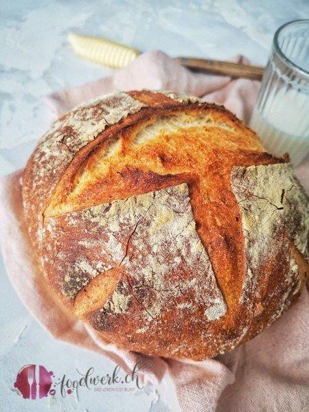 Herrlich knusprig : Einfaches Hausbrot wie vom Bäcker