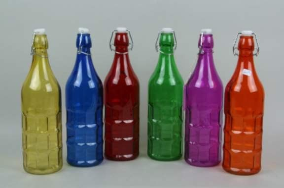 17 best images about colored glass on pinterest glass for Where to buy colored wine bottles