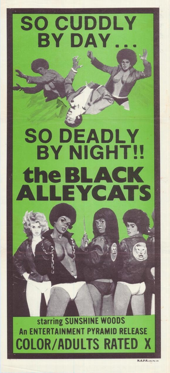The Black Alleycats.. Now THIS is a gang I'd like to join! Esp. since it looks like pants are optional!