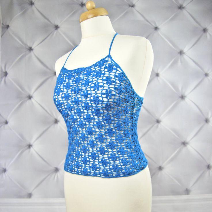 CROCHET Top PATTERN. Tutorial. Crochet Pattern.Crochet halter top pattern.Crochet sexy top.Halter top. Crochet festival top pattern.Boho top by NinElDesign on Etsy