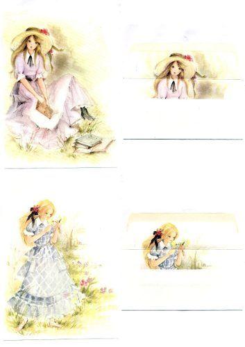 Lote Com 12 Conjuntos De Papel De Carta Antigo Julia