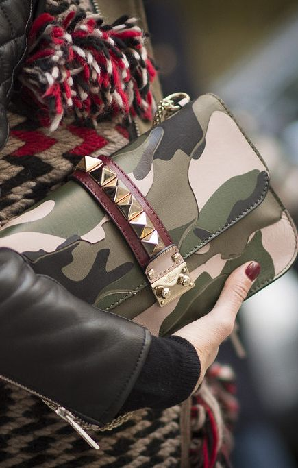 Valentino bag seen at Milan Fashion Week