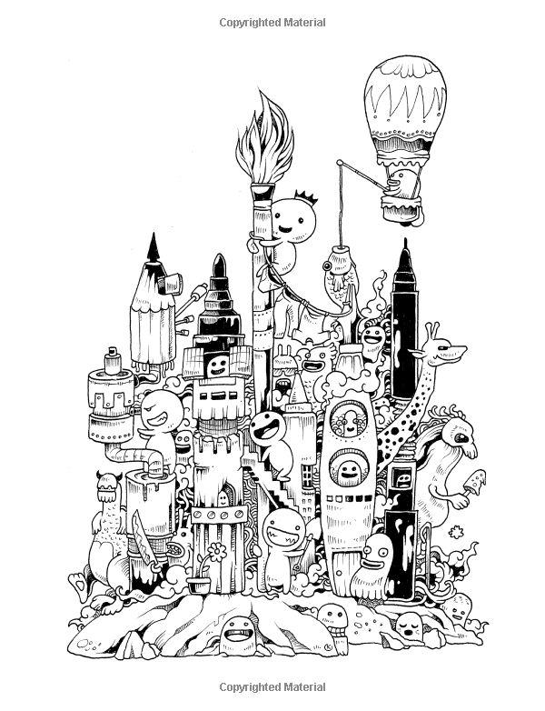 Amazon.com: Doodle Invasion: Zifflin's Coloring Book (Volume 1) (9781492977056)…