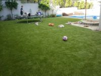 great big green lawn for the kids to play on