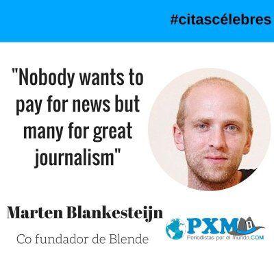 La #citacélebre de hoy nos la trae el creador de #Blende, la nueva #aplicación para #periodistas. (http://www.periodistasporelmundo.com/) #periodismo #noticia #periodismoexcelente