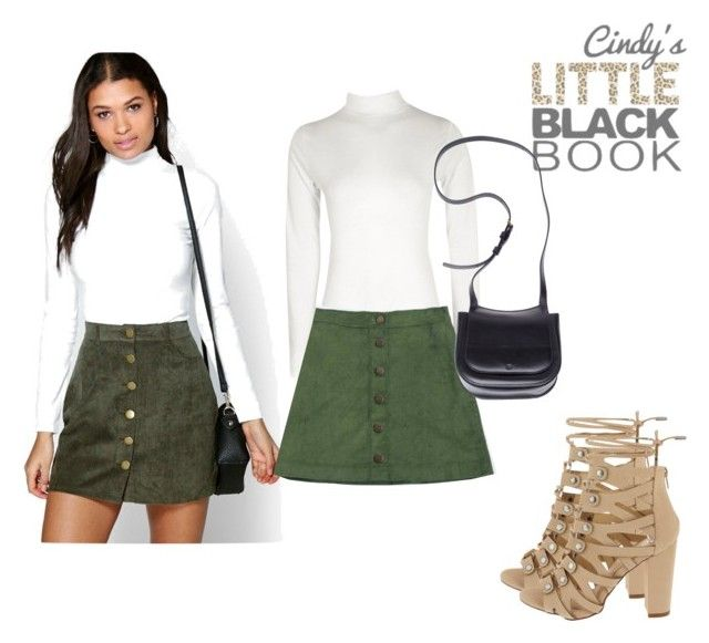 """""""Green Skirt Outfit Inspo"""" by cindyslittleblackbook on Polyvore featuring Boohoo, Vision, The Row, glamgirl and cindylbb"""