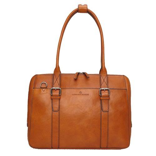 """Castelijn & Beerens Bravo Dames Laptoptas 15.6"""" cognac"""