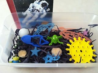 Space Themed Sensory Tub from Handmade by CJ