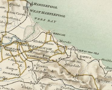 location map -- Marske by the Sea