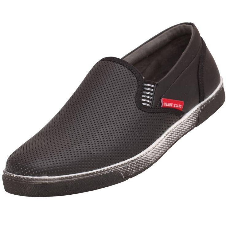 #Zapato para #Hombre marca #Perry #Ellis en color negro . Un clasico que nunca pasa de moda. Un modelo sin complicaciones para las personas que buscan en las cosas básicas un estilo contundente y atractivo.