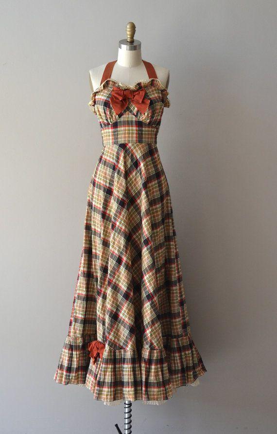 Bee's Knees dress / vintage 30s dress / plaid 1930s by DearGolden