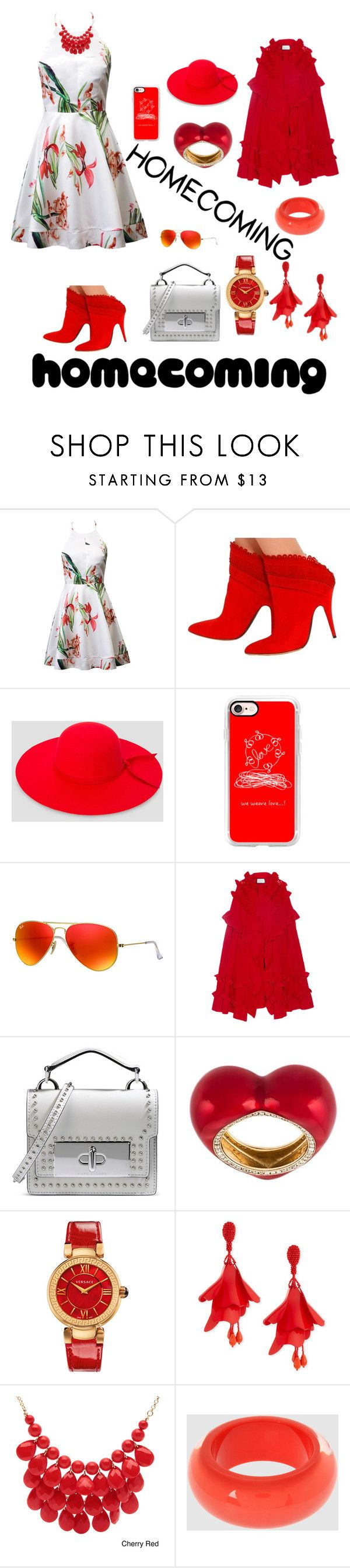 """regreso a casa"" by osiris-rojas ❤ liked on Polyvore featuring Tabitha Simmons, Ashley Stewart, Casetify, Ray-Ban, Gucci, Marc Jacobs, Alison Lou, Versace, Oscar de la Renta and Alexa Starr"