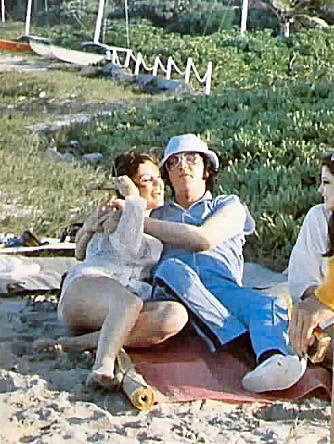 Horsing around with Terry and Ginger Alden in Hawaii on Elvis' last vacation in March 1977
