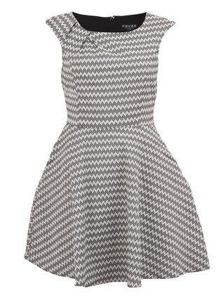 Fever London - Černo-bílé vzorované šaty  Noveau Fit - 1